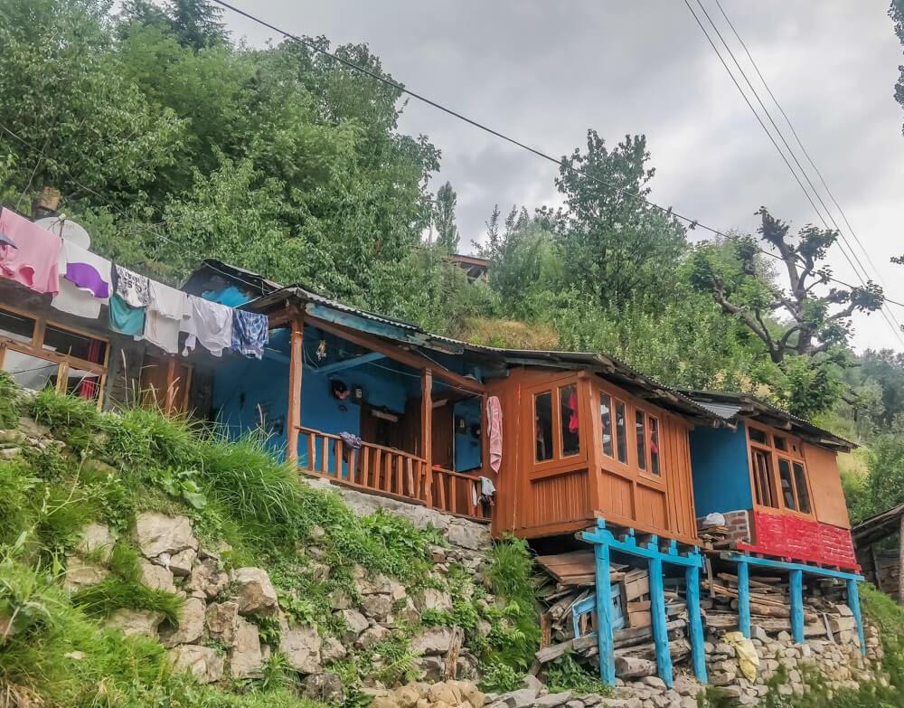 Manali stilt houses