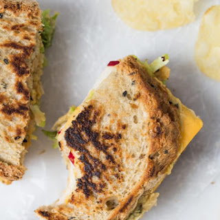 Brussels Sprout & Hummus Grilled Cheese Sandwich