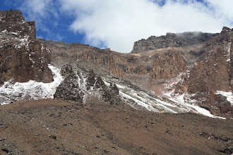 Photo: The Western Breach - our route up to the crater