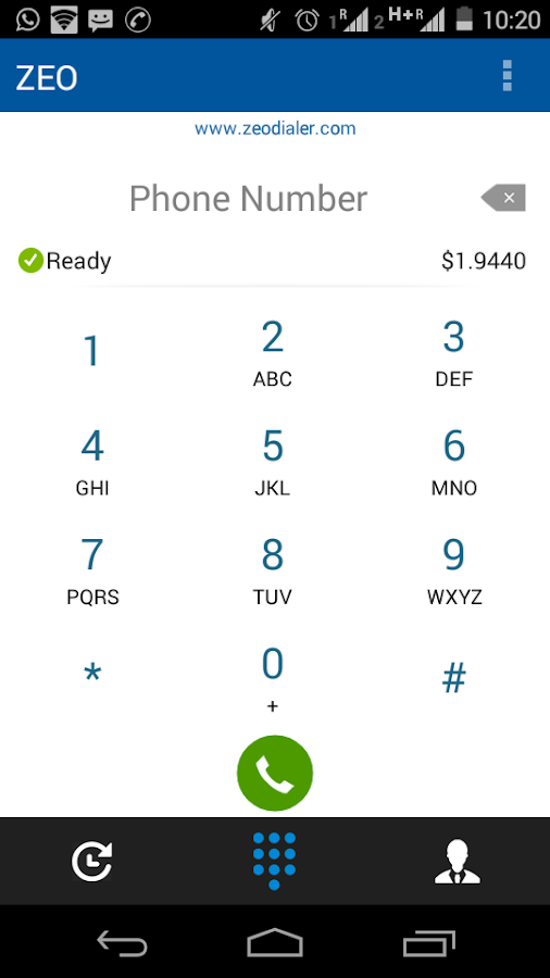 Zeo Dialer- screenshot
