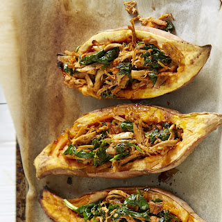 Mexican Chicken and Sweet Potato Boats.