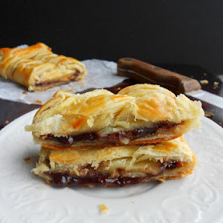 Nutella Banana Puff Pastry Braid.