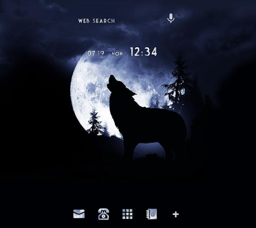 Moonlight Wolf +HOME Theme