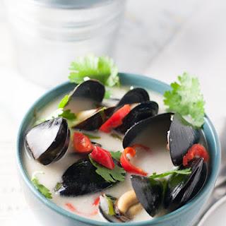 Spicy Thai Mussels.