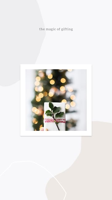 The Magic of Gifting Present - Christmas Template