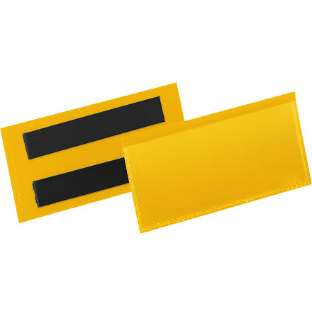 Etiketthåll. mag. 100x38mm gul