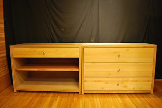 Photo: Torsion Box Sandwich Core  Dressers come with drawers or shelves. They have the same frame.