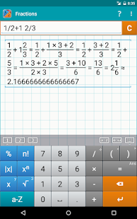 Fraction Calculator MathlabPRO Screenshot