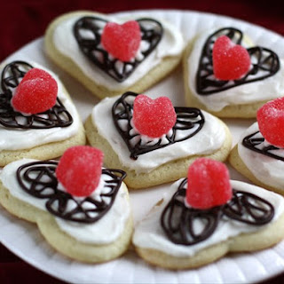 VALENTINES CHOCOLATE LATTICE SUGAR COOKIES