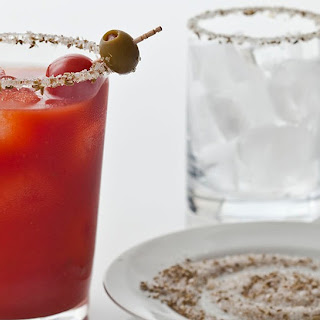 Peri-Peri Fennel Bloody Mary with Vodka-Infused Tomatoes.