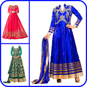 Anarkali Dress Photo Suit Salwar Suit photo Editor