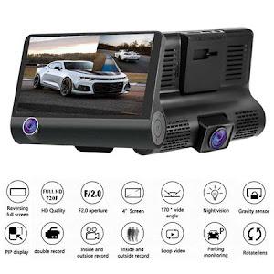 Camera auto tripla Blackbo L300-1, Full-HD, 3 camere, ecran 4'', G Senzor