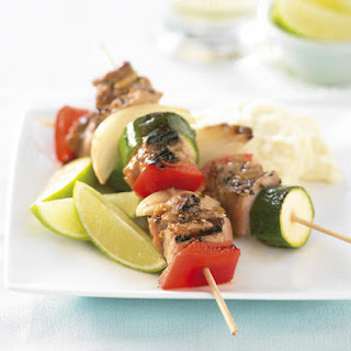 Ginger Pork Skewers with Wasabi Mashed Potatoes