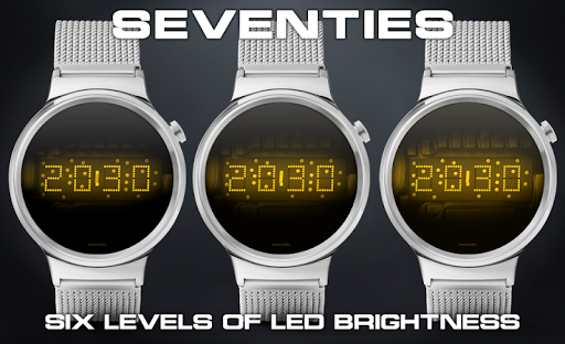 Download LED watch face | Vintage | Seventies Amber MOD APK 2