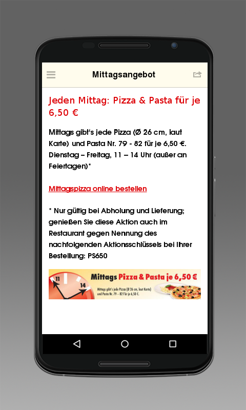 PizzaStube – Screenshot
