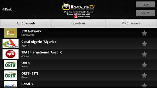 EnovativeTV for GoogleTV- screenshot thumbnail