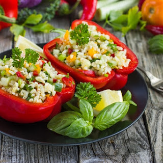 Savory Quinoa Stuffed Peppers