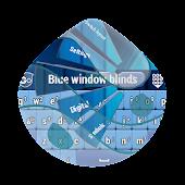 Blue window blinds GO Keyboard
