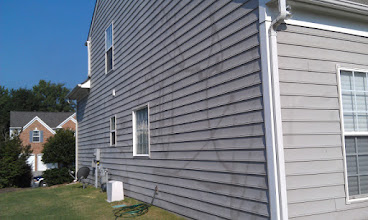 Photo: We Can Fix Most $99.00 House Washing Jobs! And Yes This Is A $99.00 House Washing Job Done By Someone Listed On Groupon Found on Google, And There Useing Our Name {Pressure Washing Charlotte) Not Sure What they Used on This Homes But This Ones So Bad it Cant Be Fixed. In No Way Are We Affiliated With Liable Or Responsible For Work or Damage Done By Any Other Company In The Charlotte Area That's Using Our Name Pressure Washing Charlotte In There Advertising To Mislead You .Know Whos Comeing To Your Home !