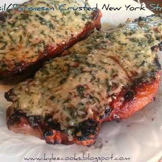 BASIL/PARMESAN CRUSTED NEW YORK STRIPS