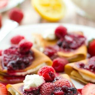 Mixed Berry Cream Cheese Crepes