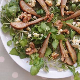 Roasted Pear, Stilton and Walnut Salad Recipe