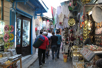 Photo: The Souq in the Medina of Tunis