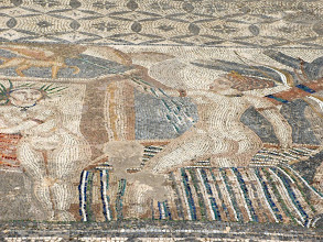 Photo: Volubilis - Mosaic with Diana ........... Mozaiek van Diana