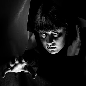 I'M HOME by Russell Mander - Black & White Portraits & People ( halloween, b&w portrait, scary )