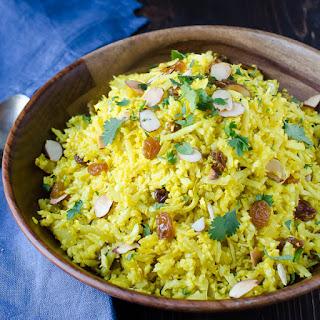 Curried Cauliflower Rice Pilaf.