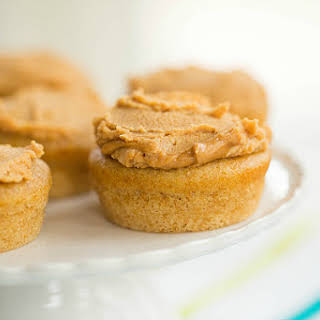 Doggie Pupcakes with Peanut Butter-Yogurt Frosting.