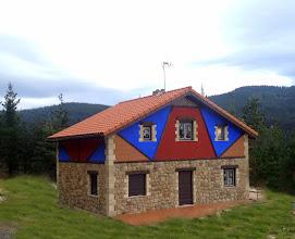 Photo: Casa con estructura de madera
