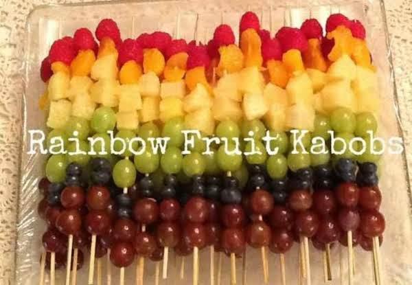 Healthy Summer Rainbow Fruit Kabobs