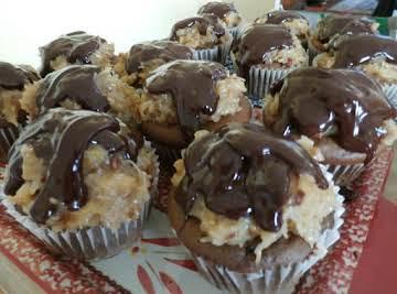 Jumbo German Chocolate Cupcakes