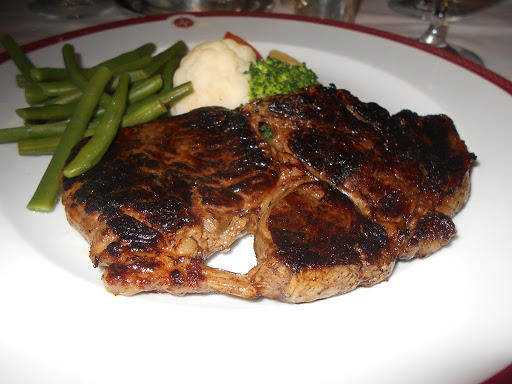 A prime Tomahawk steak at Prime7 on RSSC Mariner
