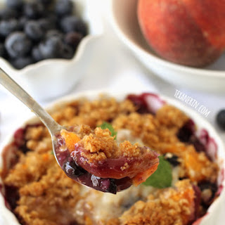 Blueberry Peach Crumble (100% whole grain + gluten-free)