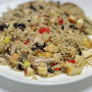 Chicken and Quinoa Waldorf Salad with Creamy Maple Vinaigrette.