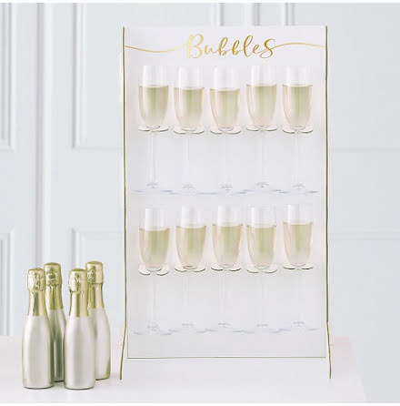 Prosecco wall - Gold wedding
