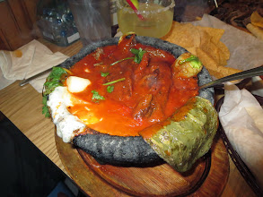 Photo: Boiling meat, cheese and cactus leaves... mmmm!