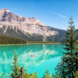 Emerald Lake  by Margie Troyer - Landscapes Waterscapes