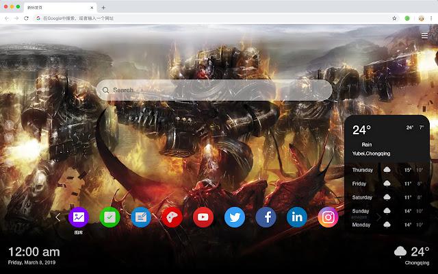 WarhammerFantasy Battle Hot New Tab HD Themes