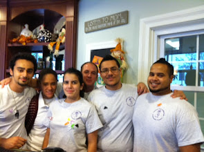 Photo: 2011 Great Food for a Great Cause Fundraiser was held on October 28 and 29th at all 6 Turning Point restaurants. Here is a group of employees at the Hoboken store ready to raise some money for KRF.