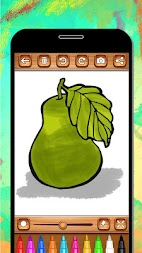 Fruits Coloring Book & Drawing Book - Kids Game APK screenshot thumbnail 9