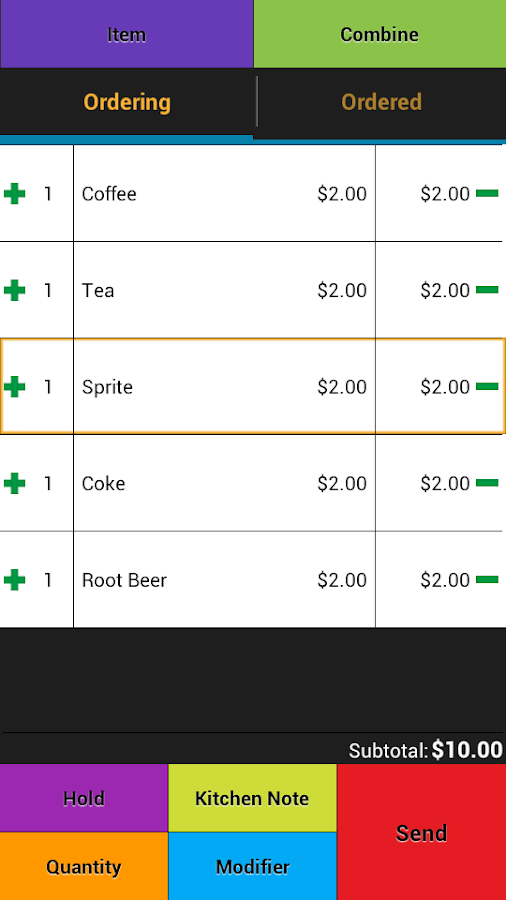 Restaurant POS - Point of Sale - screenshot