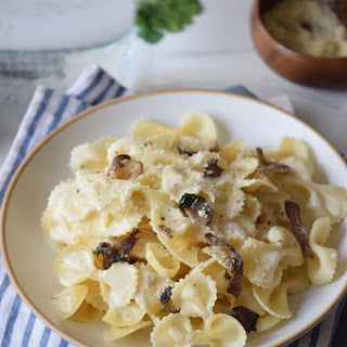 Oyster Mushroom One Pot Pasta with Wente Vineyard's