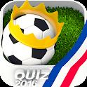 The soccer quiz icon