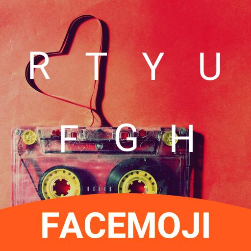 Love Tape Emoji Keyboard Theme for Snapchat