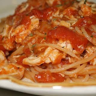 Grandma Mac's Homemade Chicken Spaghetti.