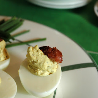 Bourbon Bacon Deviled Eggs