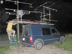 Photo: K8GP / Rover - FN10CA - Antennas take a beating by trees